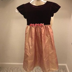 Special occasion Girl's Dress Burgundy Salmon